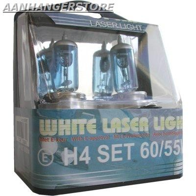 White Laser Light H4 60/55W 2 stuks