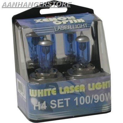 White Laser Light H4 100/90W 2 stuks