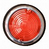 Breedtelicht rood 70mm + chrome rand